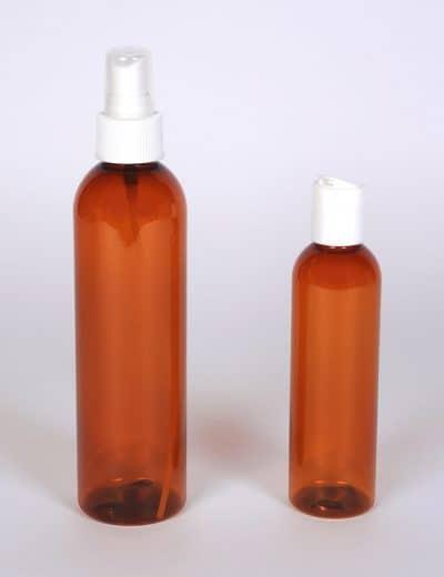 PET Amber Bullet Bottles