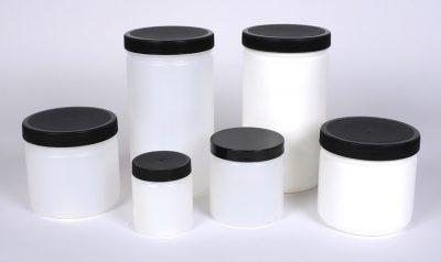 HDPE Plastic Straight Sided Jars