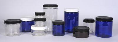PET Plastic Straight Sided Jars