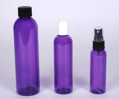 PET Purple Bullet Bottles