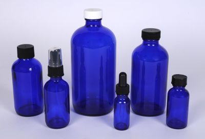 Cobalt Blue Glass Boston Rounds