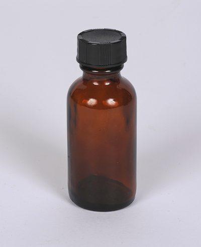 Wholesale Bottles 1 oz Amber Boston Round Bottle