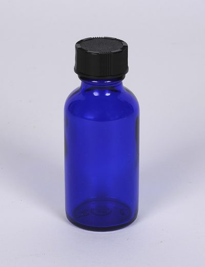 Wholesale Bottles 1 oz Cobalt Blue Boston Round Bottle
