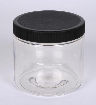 16 oz. CLEAR PET Plastic Straight Side Jar w/ 89-400 Finish