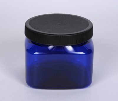 16 oz Cobalt Blue PET Firenze Jar w/ 89-400 Finish