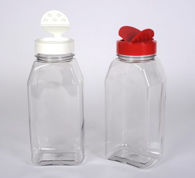 32 oz. Clear PET Plastic Oblong Spice Jar