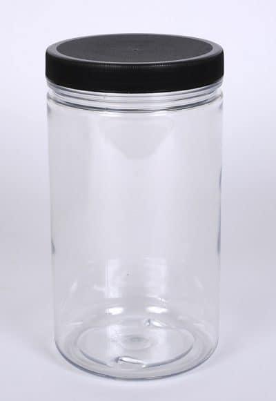 32 oz. PET Clear Straight Side Jar w/ 89-400 Finish
