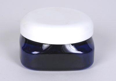 Wholesale Bottles 4 oz Cobalt Blue PET Firenze Jar w/ 70-400 Finish
