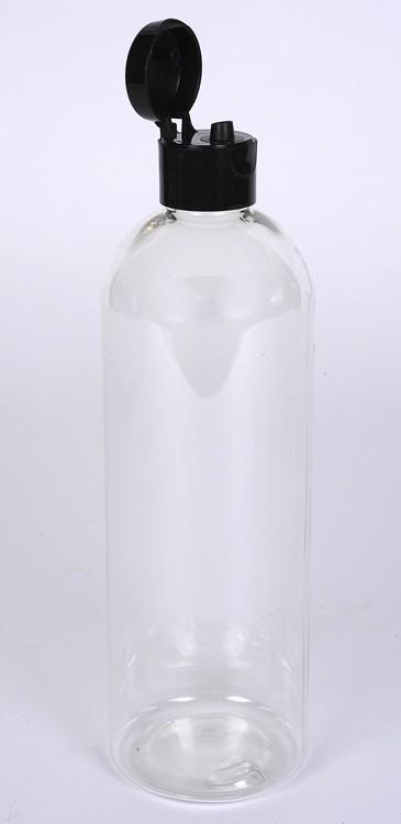 8 oz CLEAR PET Bullet Bottle w/ 24-410 Finish