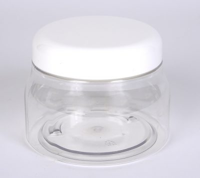8 oz. Clear PET Tuscany Jar w/ 70-400 Finish