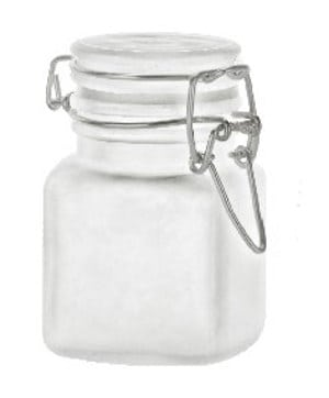 4 oz Frosted Glass Jar with Bale-Type Closure