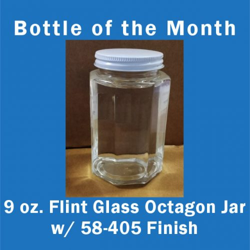Bottle of the month 9 oz octagon